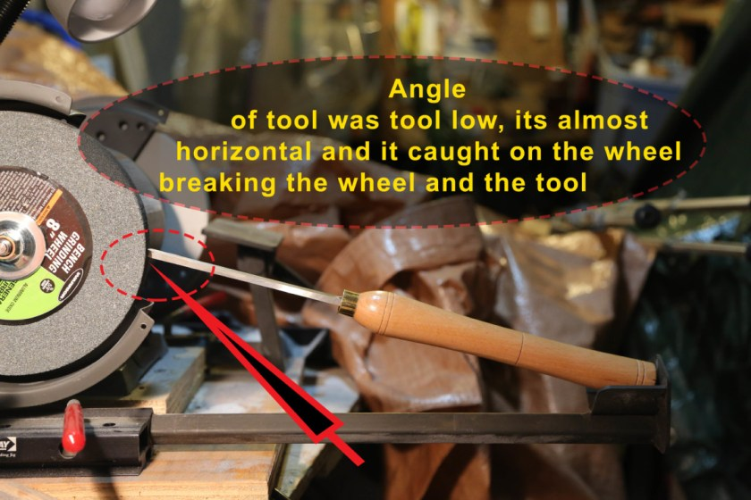Grinding Accident with oneway wolverine sharpening jig