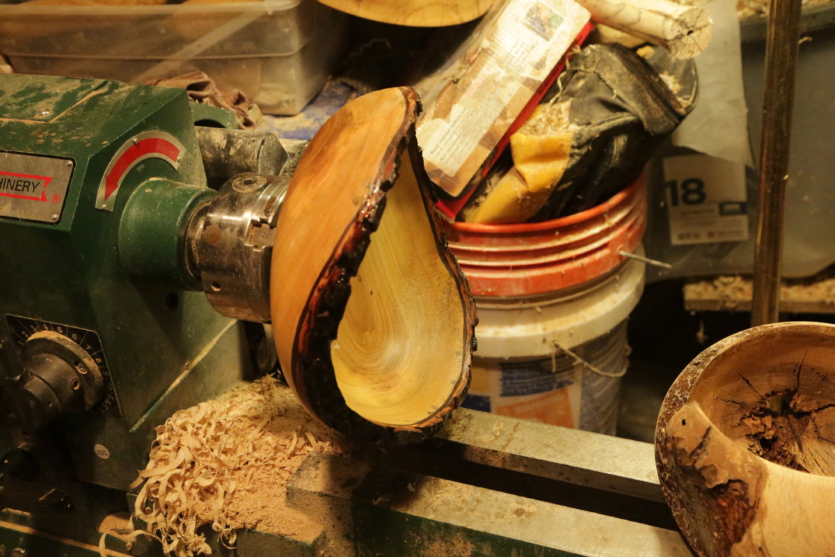 Maple Live Edge Bowl and Turning A Natural Edge Bowl