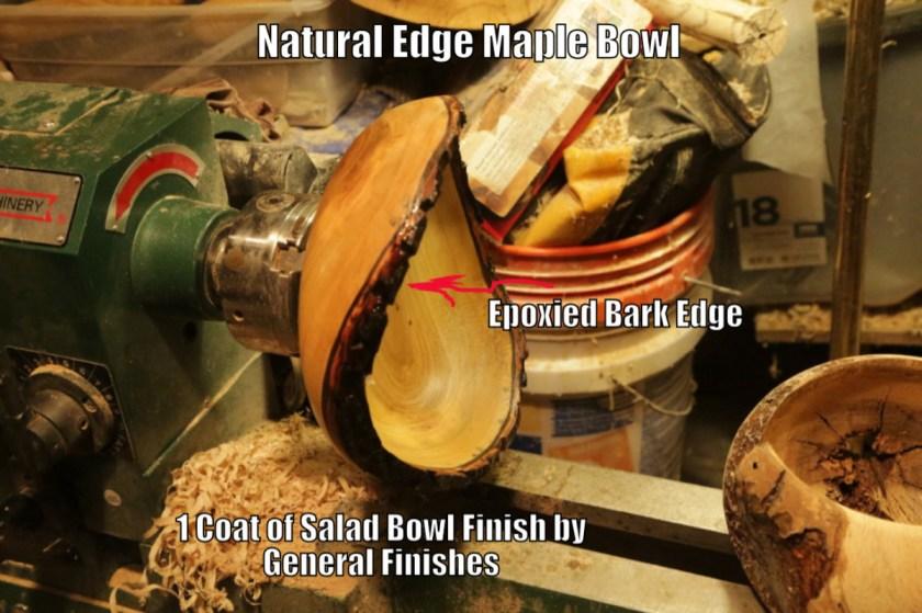 natural edge or live edge wood bowl