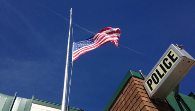 wayland fire-police department flag half staff 033015_85601