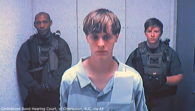 Dylann Storm Roof in court 061915 AP_103843
