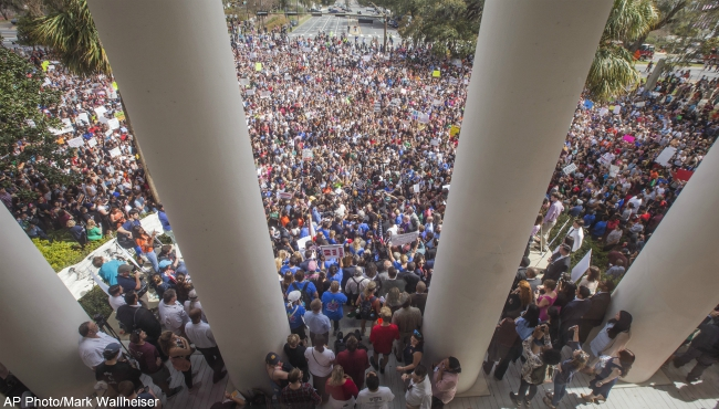 florida capitol gun demonstration 022118 AP_484318