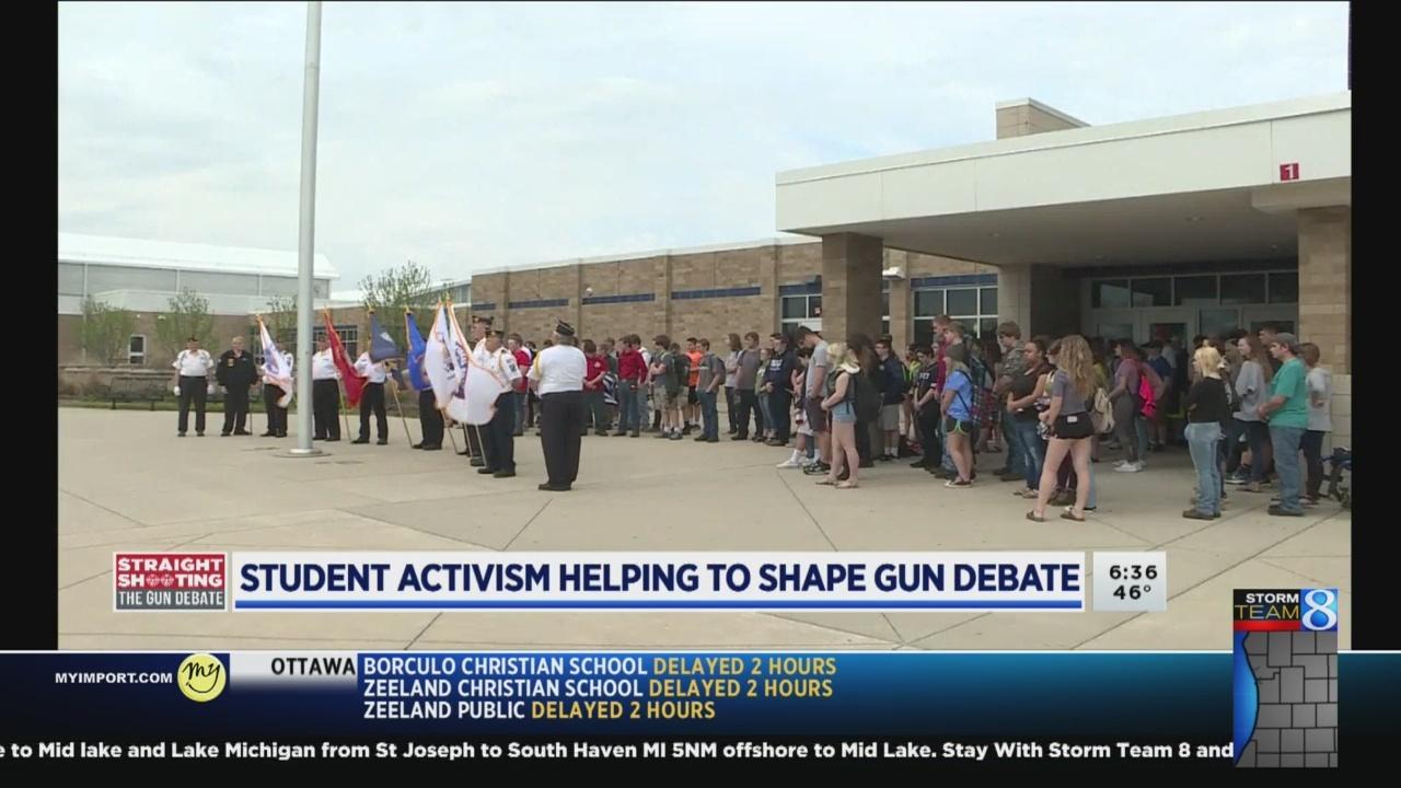 Student activism helping to shape gun debate