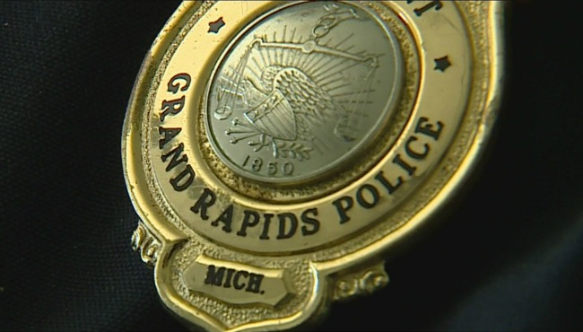 generic grpd grand rapids police department badge
