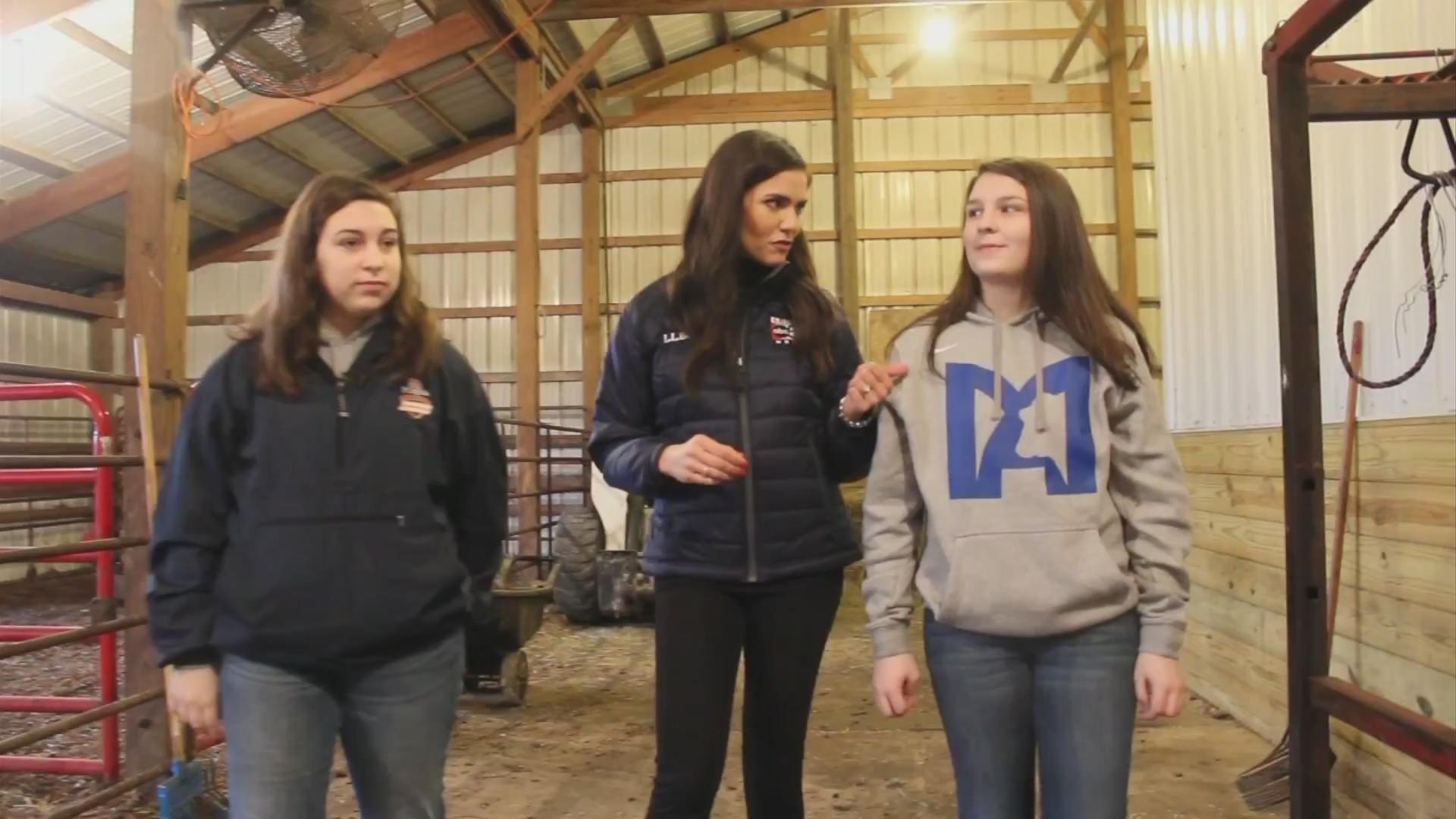 VIDEO: Sisters help represent future of female farmers