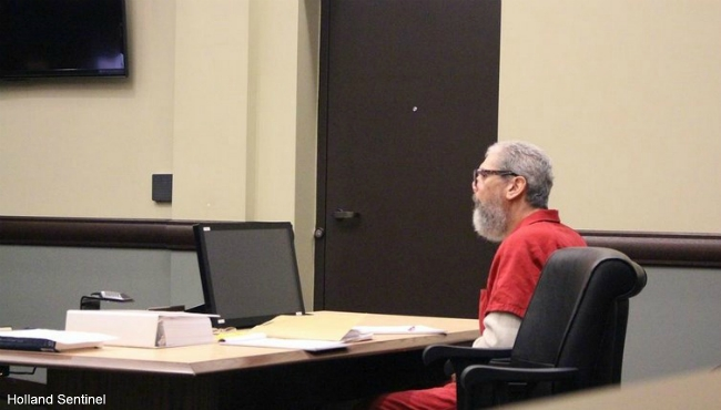 Michael McNeal in a Graven Haven courtroom for a preliminary hearing Wednesday, Jan. 9, 2019. (Holland Sentinel)