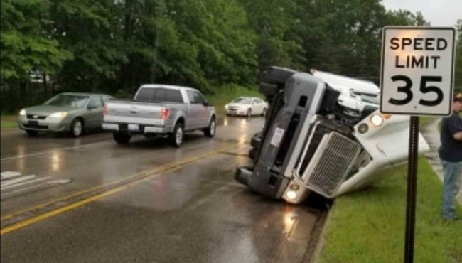A photo of a crash on Greenville West Drive on June 20, 2019.