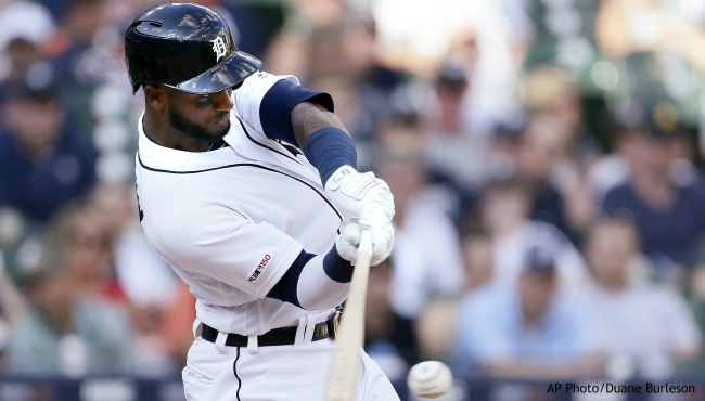Detroit Tigers' Niko Goodrum singles to drive in Miguel Cabrera against the Washington Nationals during the seventh inning of a baseball game Saturday, June 29, 2019, in Detroit. (AP Photo/Duane Burleson)