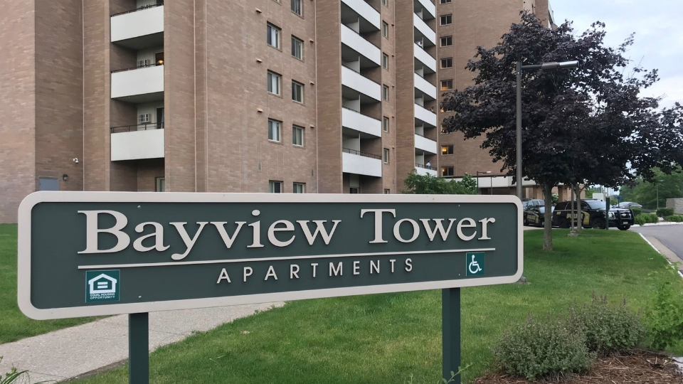 Bayview Tower Apartments police presence