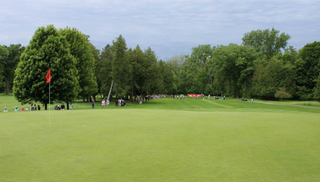 A photo of the second day of the Meijer LPGA Classic on June 14, 2019.
