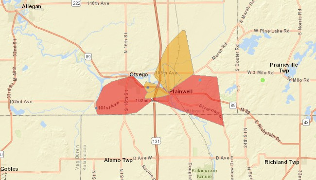 Power restored to thousands in Allegan Co  after fallen tree