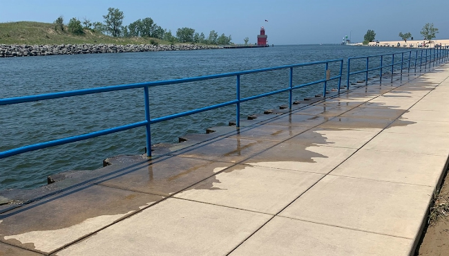 A photo of the dock in Holland State Park. (July 10, 2019)