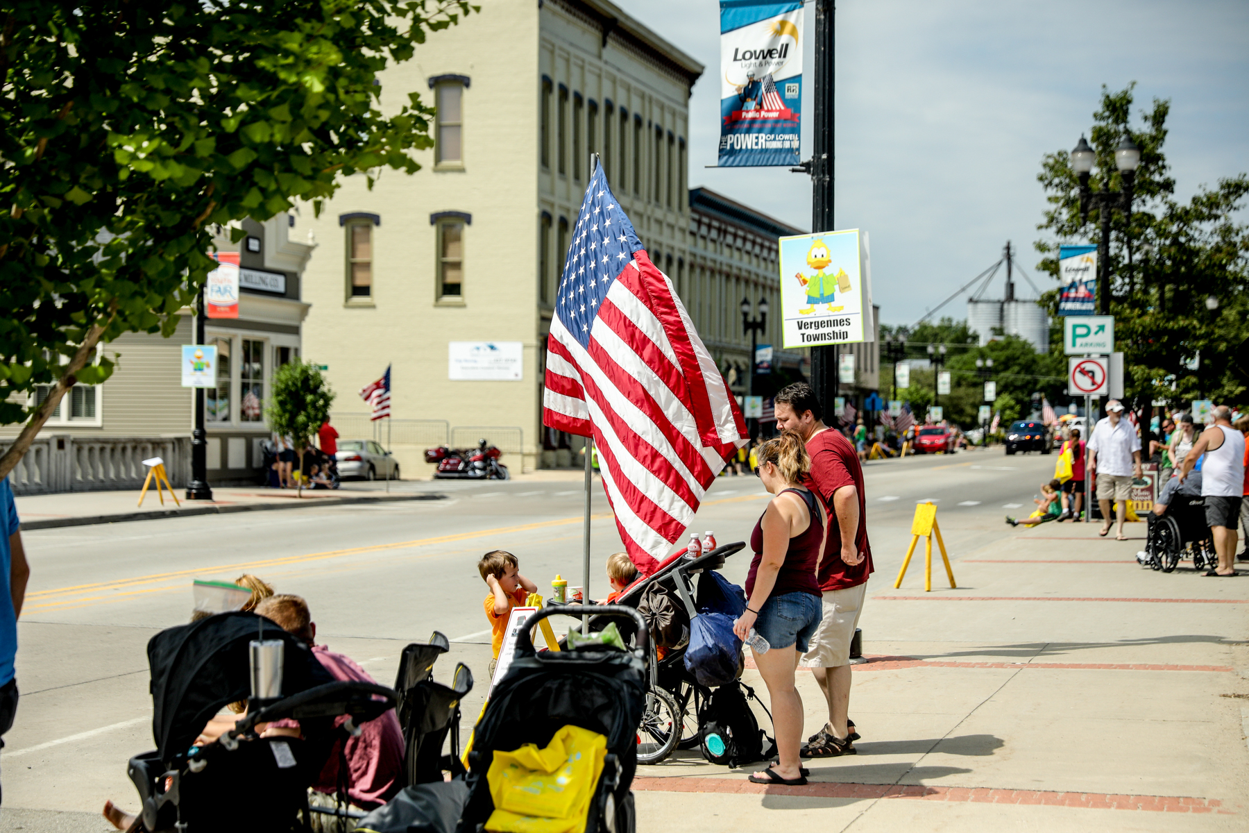 People come out for the Lowell Riverwalk Festival on July 13, 2019. (Michael Buck/WOOD TV8)