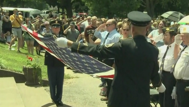 A photo of a funeral for Wayne Lee Wilson in Niles on July 17, 2019.
