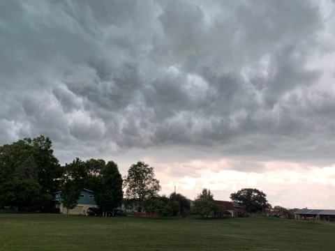 Storm clouds loom over Delton on July 20, 2019. (Courtesy of Stephanie Cravens)