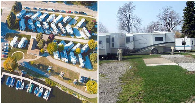 RVs parked at Tanglefoot Park