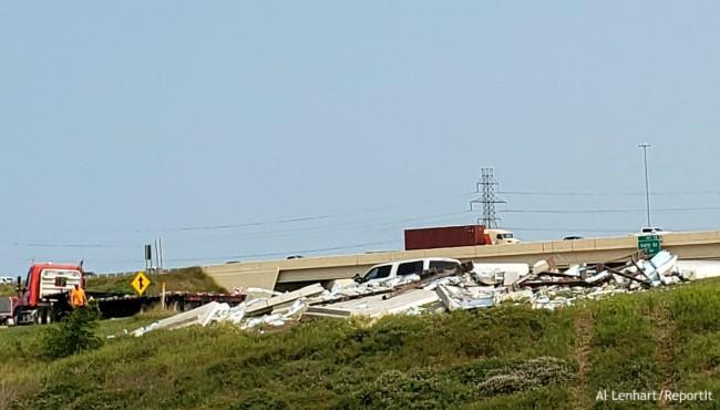 Cement debris lines ramp