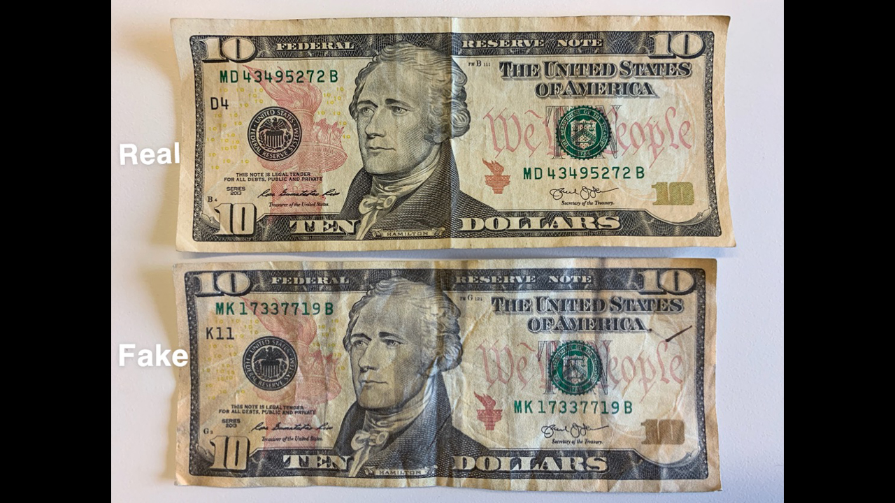 kalamazoo counterfeit money