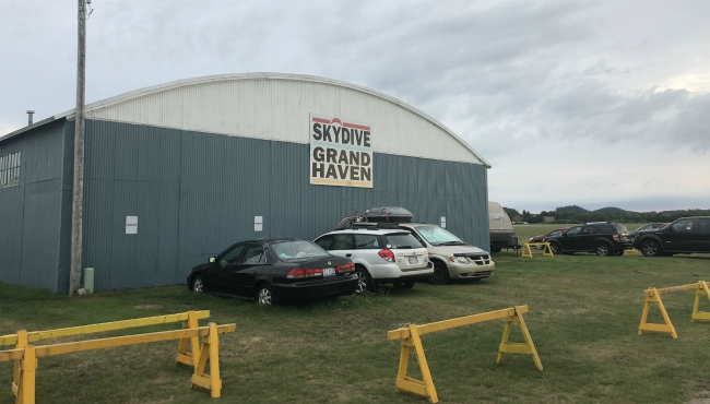 A photo of Skydive Grand Haven after a skydiver died in an accident. (Aug. 17, 2019)