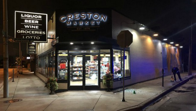 Police are investigating after a break-in at the Creston Market in Grand Rapids Monday, Sept. 23, 2019.