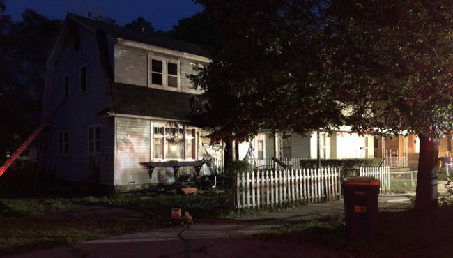 A house in Grand Rapids was destroyed in a fire Tuesday, Sept. 10, 2019.