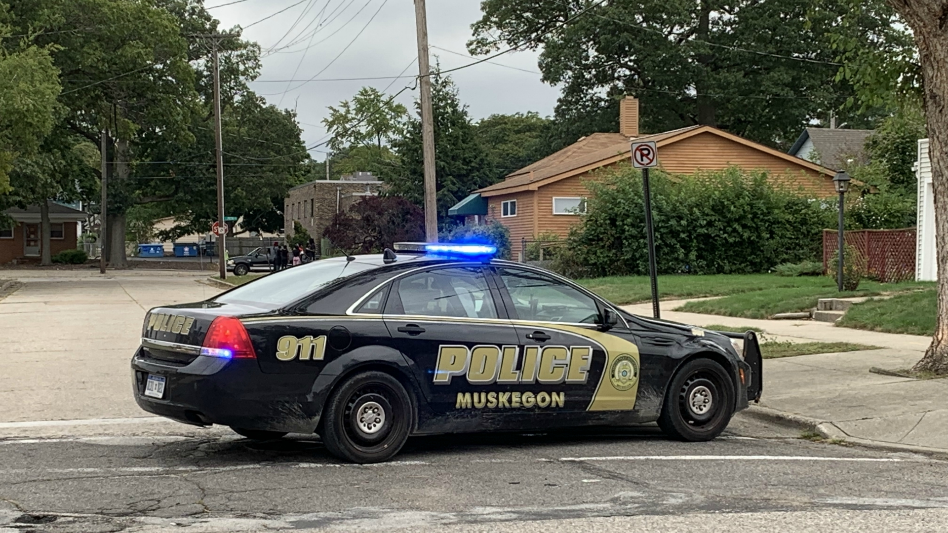 muskegon sanford street shooting scene