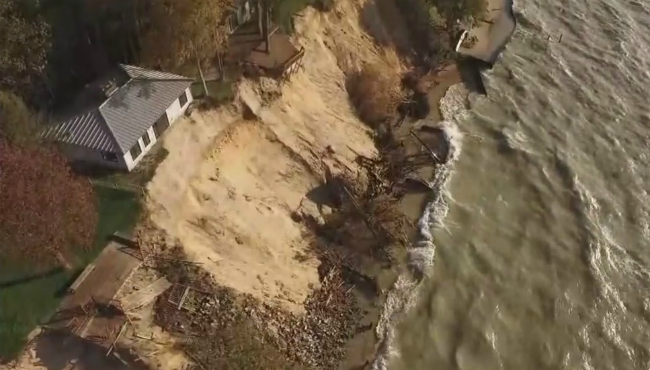 park township lake michigan erosion