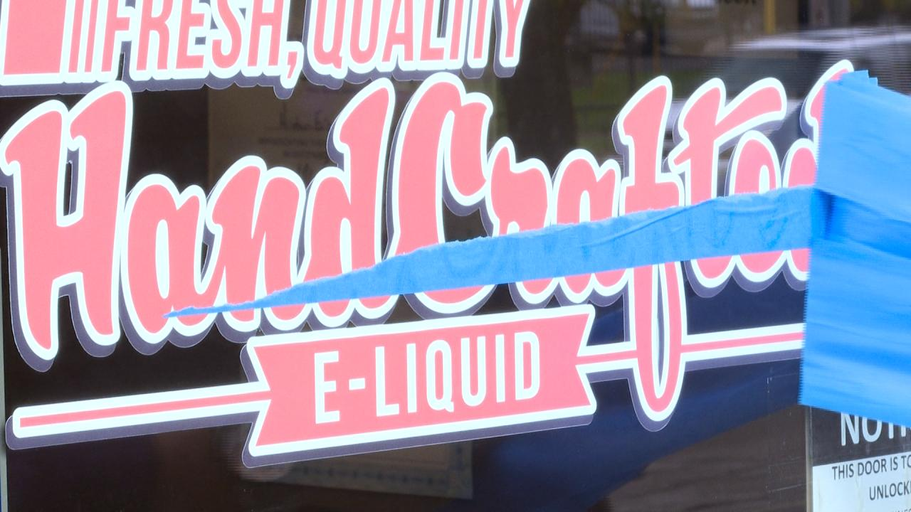 mister e-liquid flavored vaping products injunction