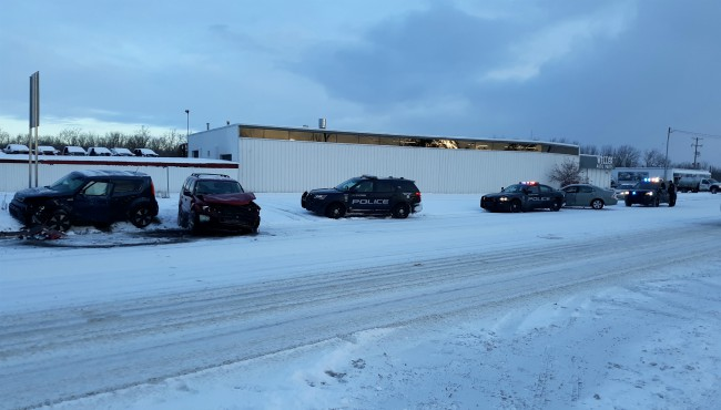 A Wyoming Department of Public Safety cruiser was involved in a five-car pileup Tuesday, Nov. 12, 2019.
