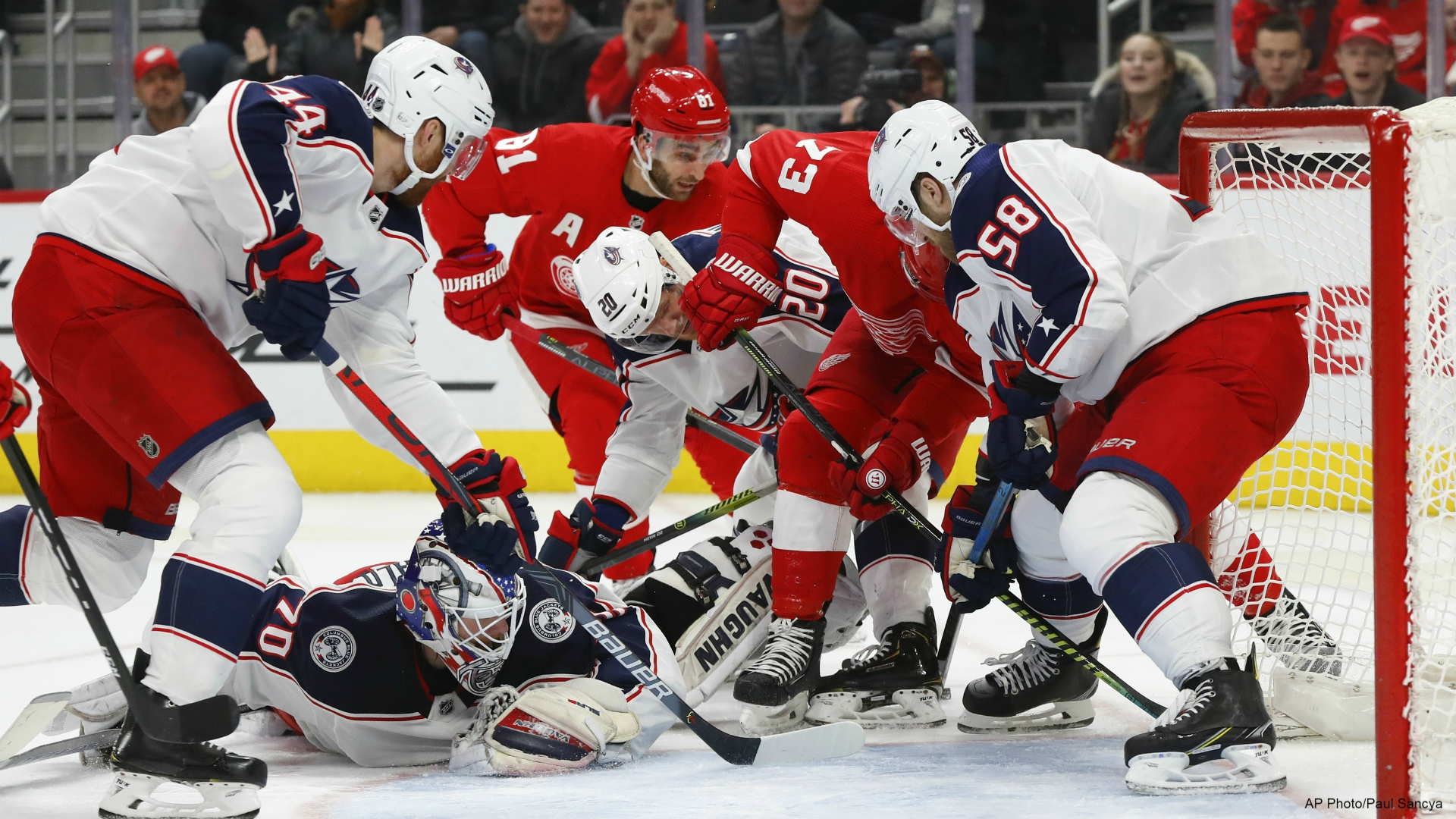 Dubois Goal In 3rd Helps Blue Jackets Beat Red Wings Woodtv Com
