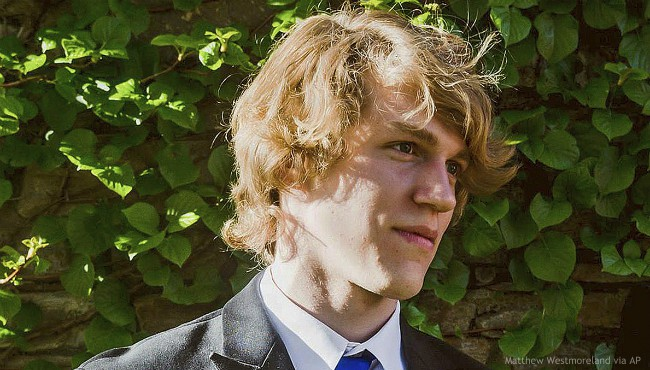 This undated file photo provided by Matthew Westmoreland shows Riley Howell. (Matthew Westmoreland via AP, File)