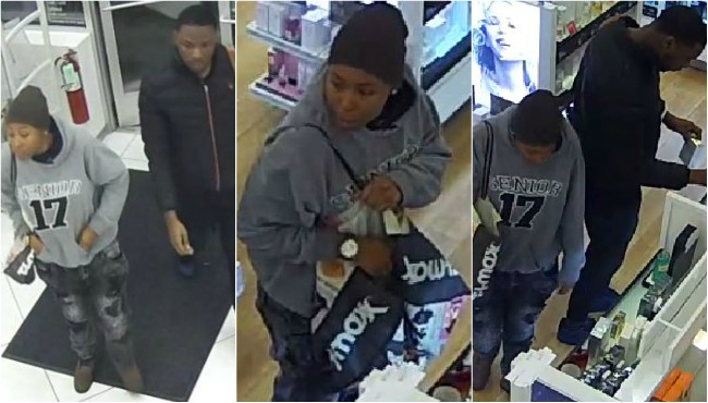 Surveillance photos of two suspect wanted in connection to several thefts at Ulta Beauty stores in Kent and Ottawa counties.