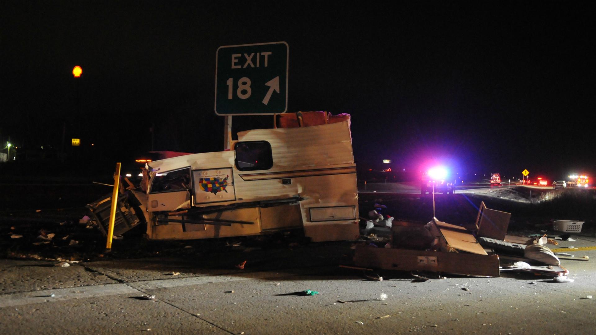 south haven township I-196 camper crash