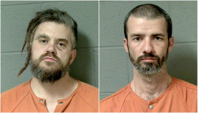 Undated booking photos of Justin Robert-Gabriel Carlton (left) and Jay Vincent Penar. (Courtesy of the Cass County Sheriff's Office)