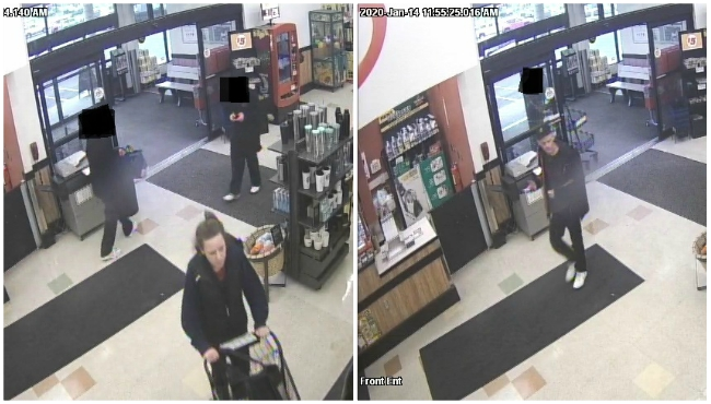 The Marshall Police Department released two photos of suspects wanted for questioning in retail fraud. (Jan. 15, 2020)
