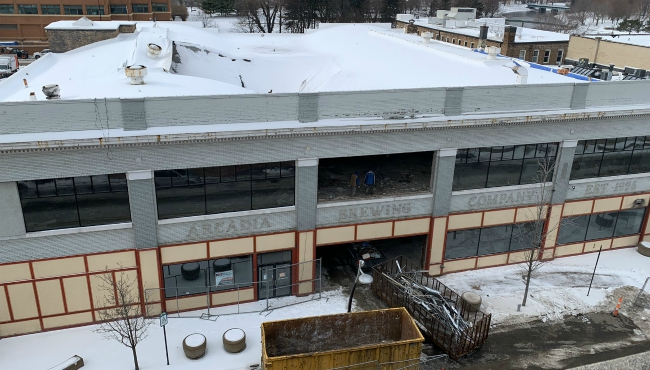 A photo of the former Arcadia Brewing Company site in Battle Creek. (Jan. 22, 2020)