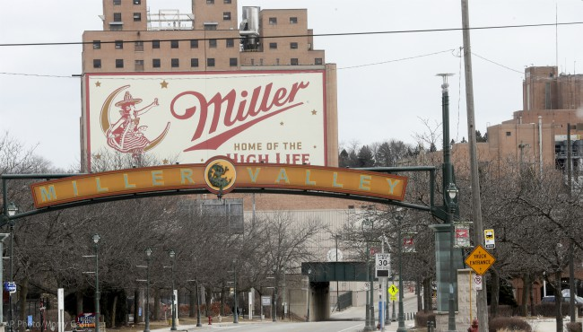 The Molson Coors facility is seen Thursday Feb. 27, 2020, in Milwaukee. (AP Photo/Morry Gash)