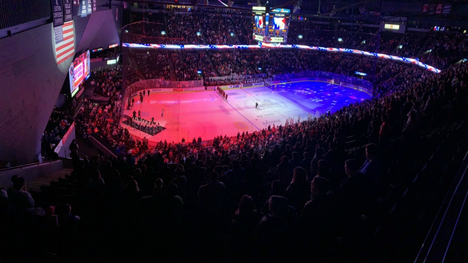 Van Andel Arena during a Grand Rapids Griffins game on Feb. 22, 2020.