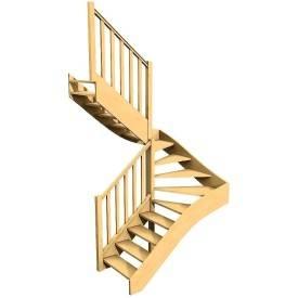 Escalier Bois Sur Mesure Double Quart Tournant