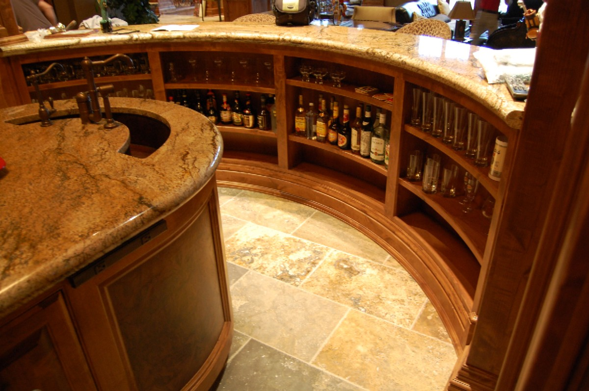 Curved Bar And Wine Room