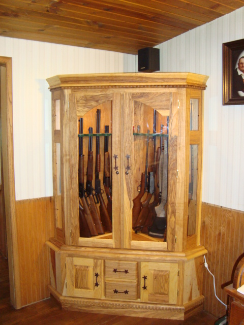 gun cabinets plans