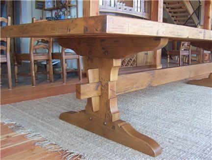 Pdf plans trestle table plans woodworking download simple for Post trestle farm table plans