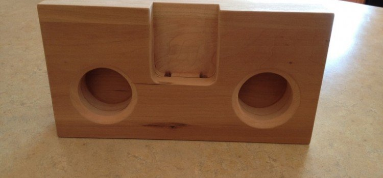 IPhone Amplifier Speaker Out Of Wood Woodwork City