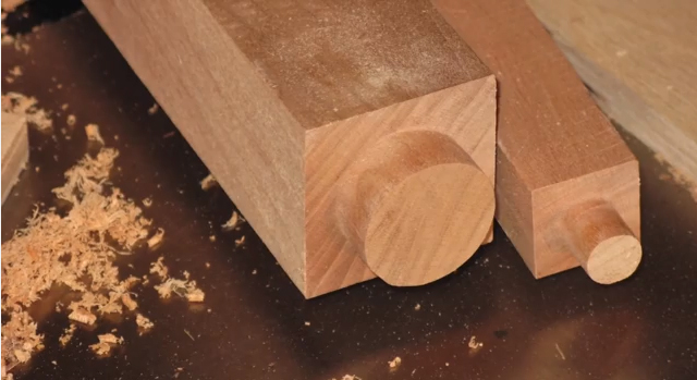 How To Make Round Tenons On Square Chair Legs