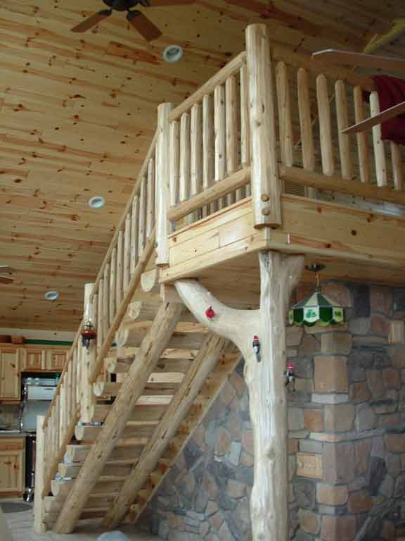Log Deck Railing Ideas