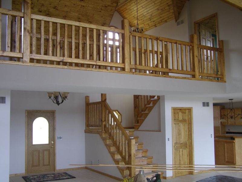 Rustic Wood Stairs And Railings Cedar Amp Pine Staircases