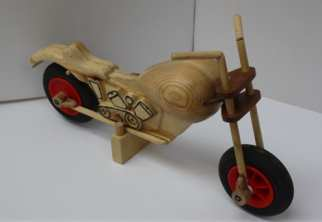 Wooden bike toy