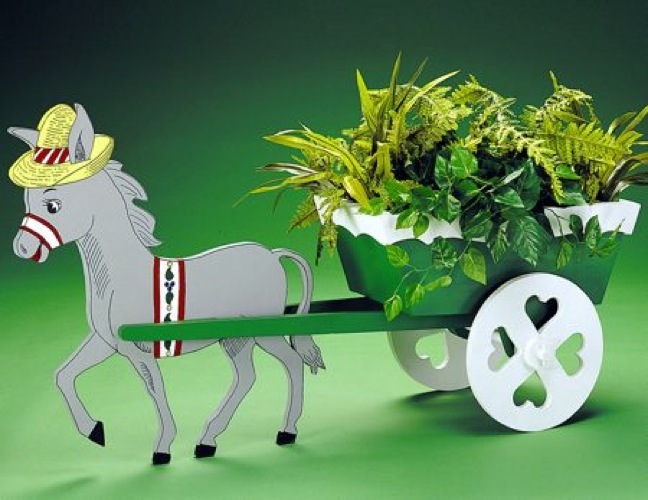 R14 1701 Donkey Cart Planter Vintage Woodworking Plan