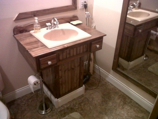 Wooden Pedestal Sink Vanity   Woodworking Talk   Woodworkers Forum Click image for larger version Name  IMG 20130410 01034 jpg Views
