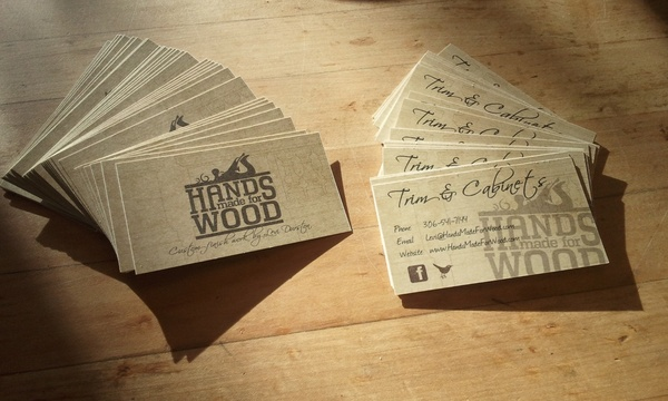 Business Cards Arrived!! - Woodworking Talk - Woodworkers Forum